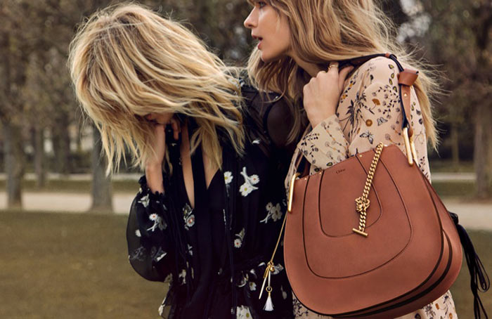 Anja Rubik and Julia Stegner for Chloe Fall 2015 Campaign