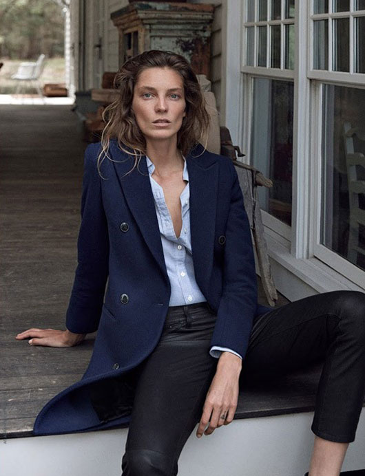 Daria Werbowy for AG Jeans Fall 2015 Campaign