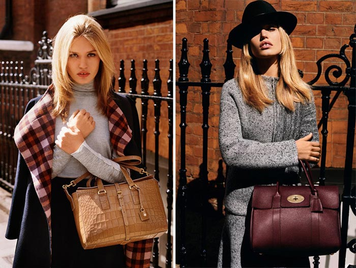 Georgia May Jagger for Mulberry Fall 2015 Campaign