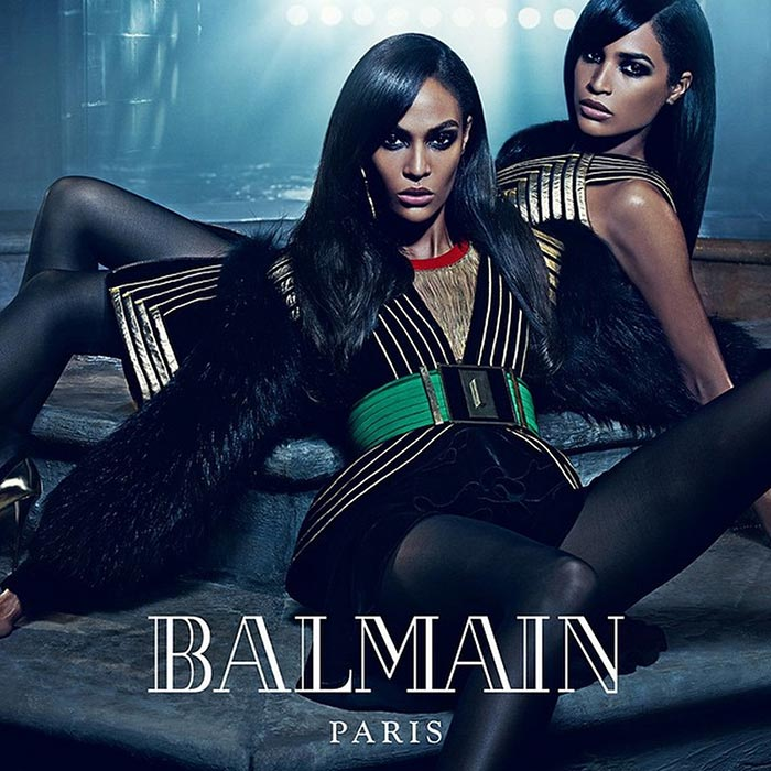 Erika and Joan Smalls for Balmain Fall 2015 Campaign