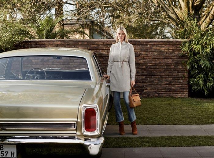 Lara Stone for H&M Fall 2015 Campaign