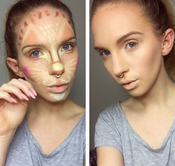 Clown Contouring Beauty Trend