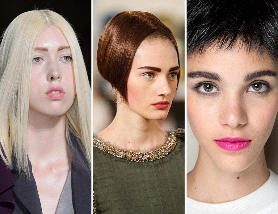 Fall 2015 Couture Beauty Trends: Straight Eyebrows