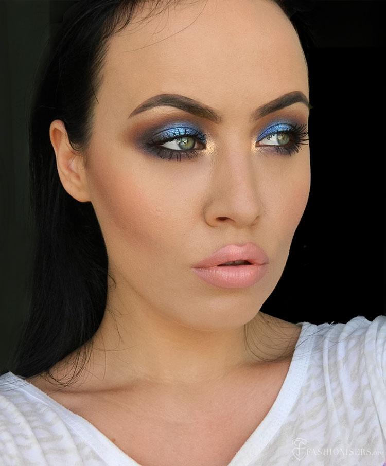 Bombshell Blue Smoky Eye Makeup Tutorial