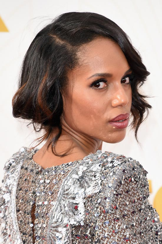 Emmy Awards 2015 Celebrity Hairstyles and Beauty: Kerry Washington