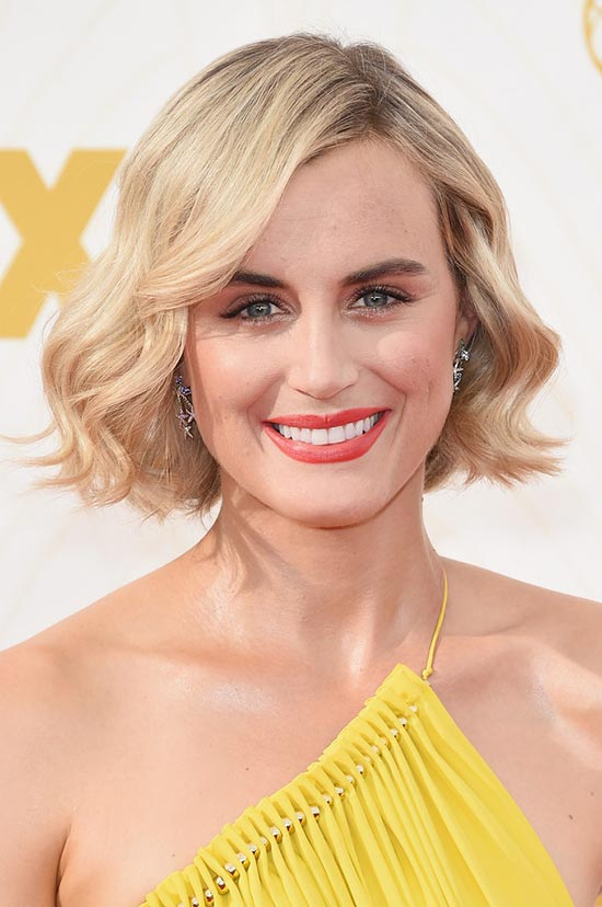 Emmy Awards 2015 Celebrity Hairstyles and Beauty: Taylor Schilling
