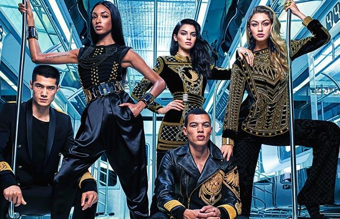 Balmain x H&M Fall 2015 Campaign