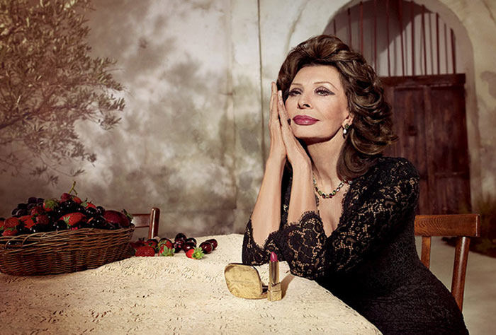 Dolce & Gabbana Launching a Sophia Loren Lipstick