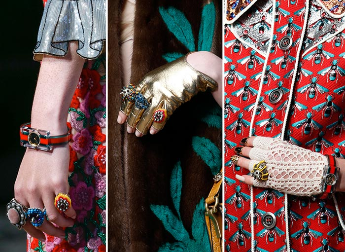 Gucci Spring 2016 Accessories: Rings
