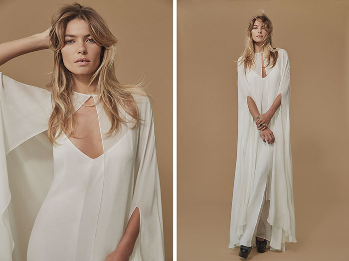 Jessica Hart in Reformation's Fall 2015 Bridal Lookbook