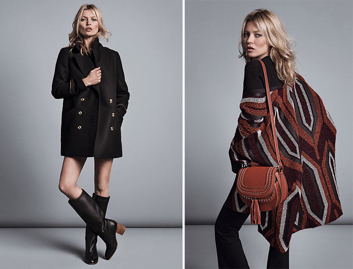 Kate Moss and Cara Delevingne for Mango Fall 2015 Campaign