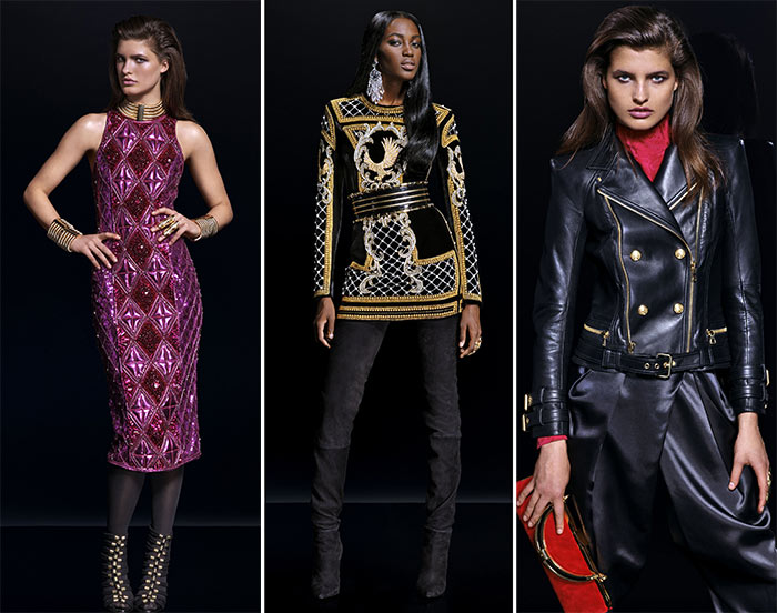 Balmain x H&M Fall 2015 Lookbook