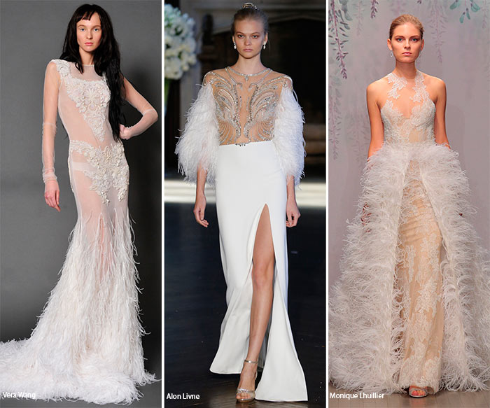 Fall 2016 Bridal Trends: Wedding Dresses with Feathers