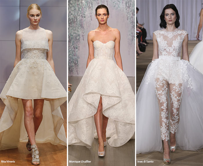 Fall 2016 Bridal Trends: Wedding Dresses with Asymmetrical Hemlines