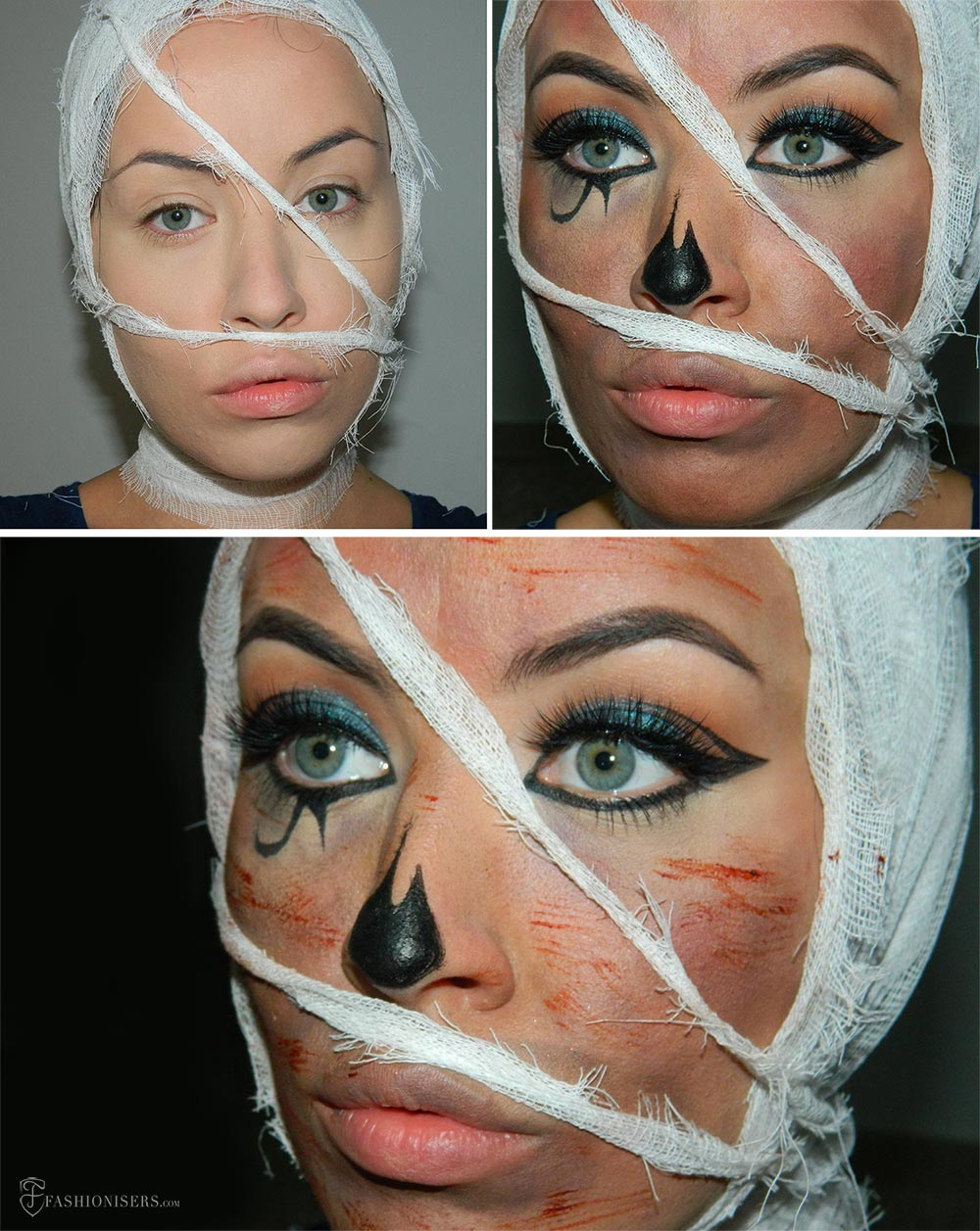 Mummy Halloween Makeup Tutorial