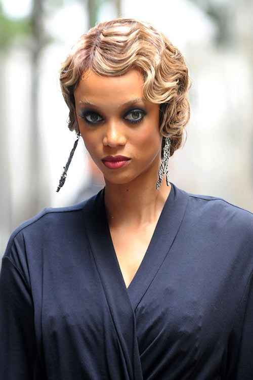 10 Retro Updo Hairstyles: Tyra Banks