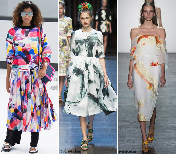 Spring/ Summer 2016 Print Trends: Brushstroke Patterns