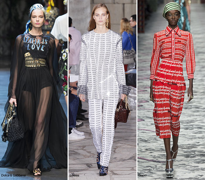 Spring/ Summer 2016 Print Trends: Logo & Word Patterns