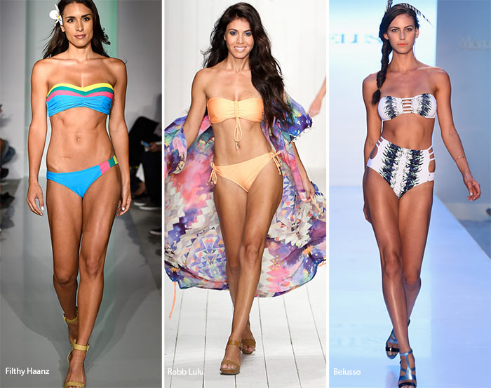 Spring/ Summer 2016 Swimwear Trends: Bandeau Bikini tops