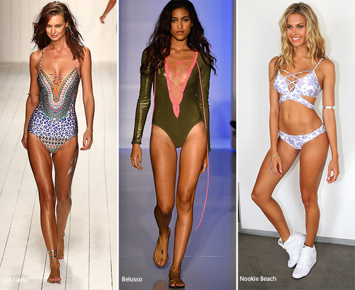 Spring/ Summer 2016 Swimwear Trends: Lace-Up Swimsuits