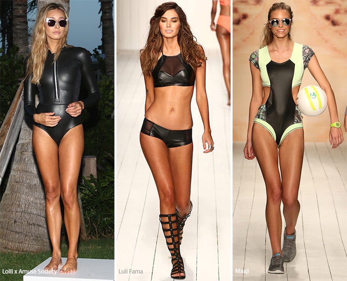 Spring/ Summer 2016 Swimwear Trends: Leather Swimsuits