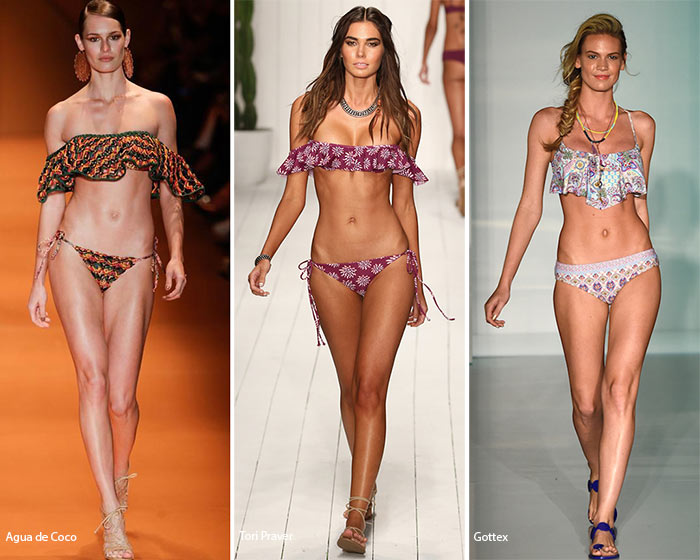 Spring/ Summer 2016 Swimwear Trends: Ruffled Swimsuits