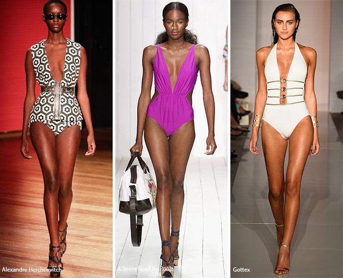 Spring/ Summer 2016 Swimwear Trends: Swimsuits with Plunging Necklines