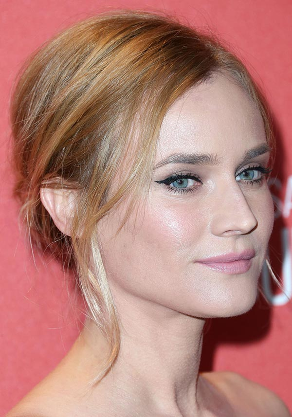 2015 Holiday Party Hairstyles: Diane Kruger