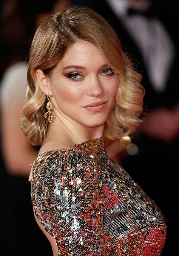 2015 Holiday Party Hairstyles: Lea Seydoux