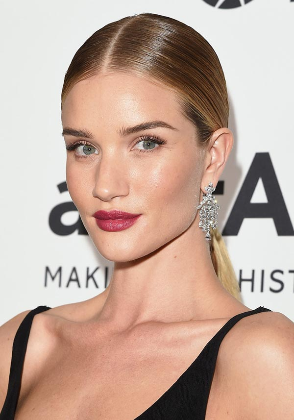 2015 Holiday Party Hairstyles: Rosie Huntington-Whiteley