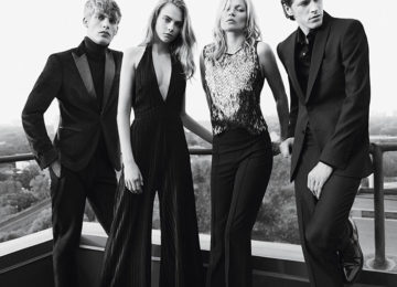 Cara and Kate in Mango's Holiday 2015 Campaign