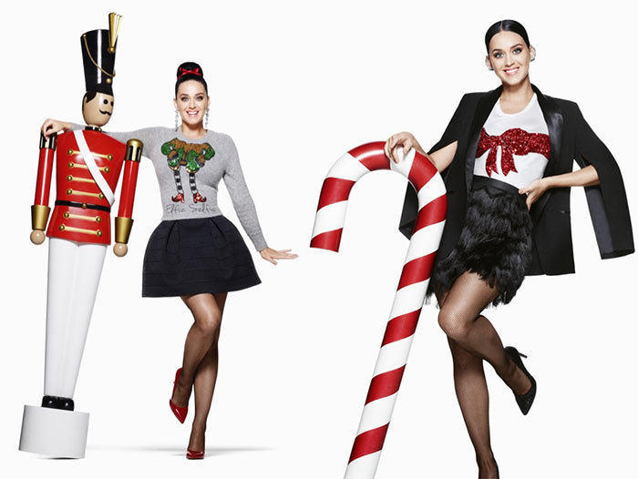 Katy Perry for H&M Holiday 2015 Campaign