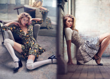 Stella Maxwell Features In Urban Outfitters Holiday 2015 Campaign