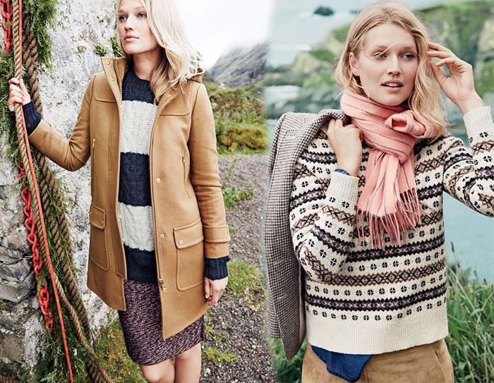 Toni Garrn for J.Crew Winter 2015 Lookbook