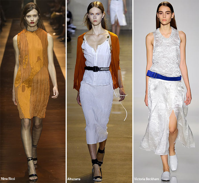 Spring/ Summer 2016 Fashion Trends: Crumpled Fabric