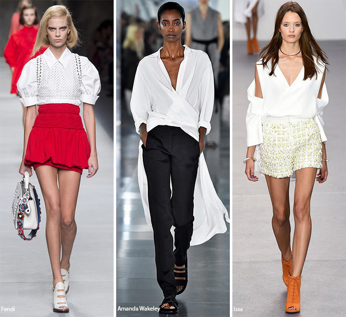 Spring Summer 2016 Fashion Trends Modern White Shirts