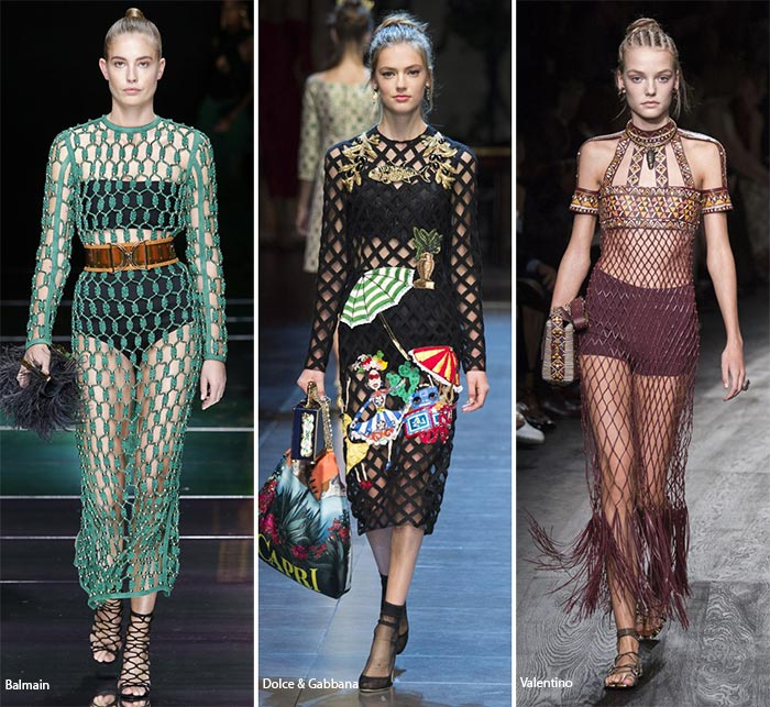 Spring/ Summer 2016 Fashion Trends: Netting & Mesh