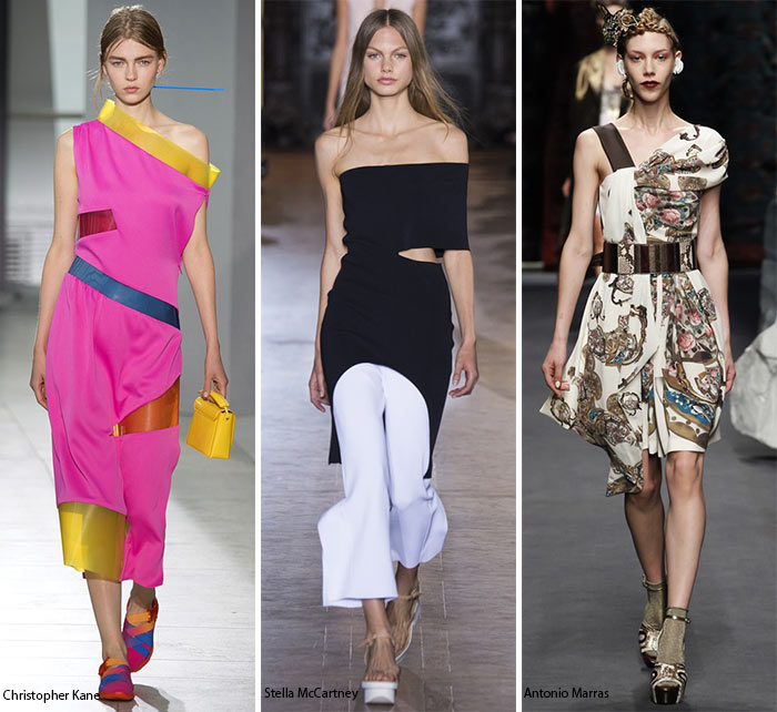 Spring/ Summer 2016 Fashion Trends: Asymmetrical Necklines