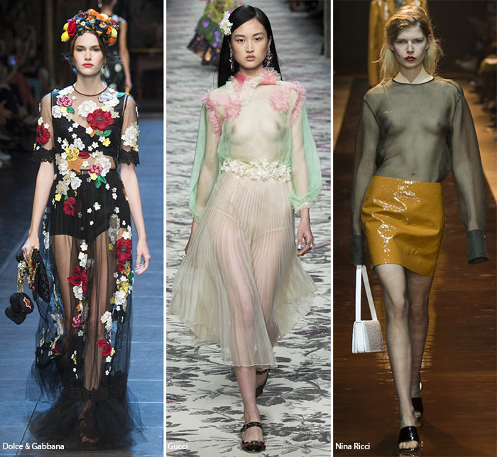 Spring/ Summer 2016 Fashion Trends: Transparency
