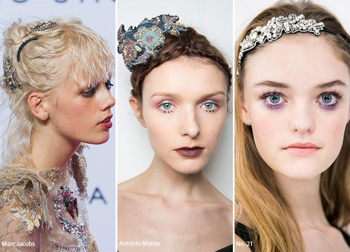 Spring/ Summer 2016 Hair Accessory Trends: Jeweled Barrettes, Brooches & Headbands