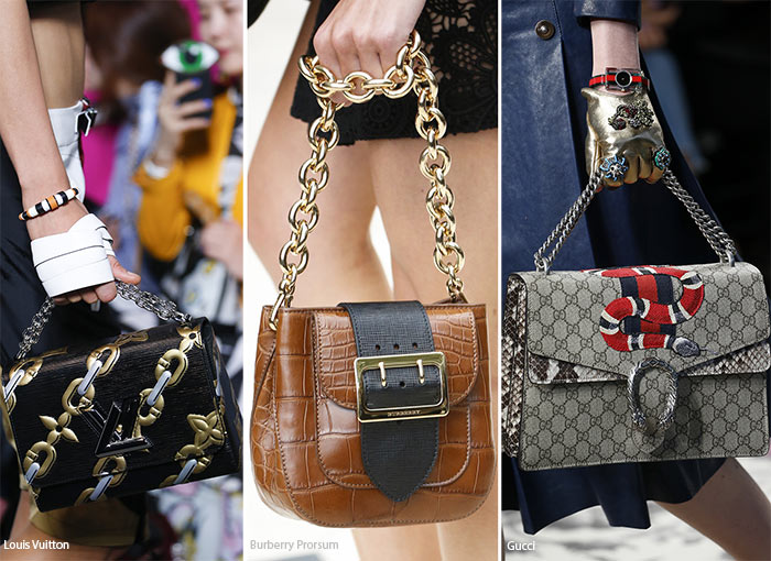 Spring/ Summer 2016 Handbag Trends: Bags with Chain Straps