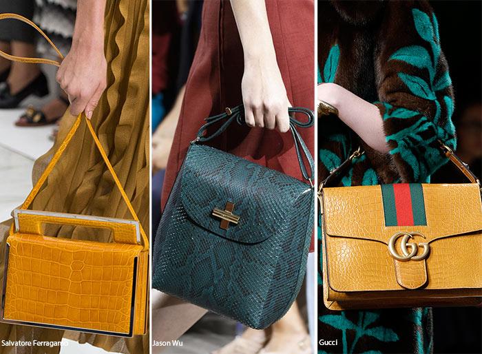 Spring/ Summer 2016 Handbag Trends: Reptile Skin Bags