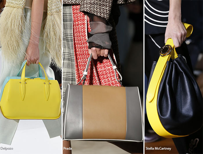 Spring/ Summer 2016 Handbag Trends: Two-Tone Bags