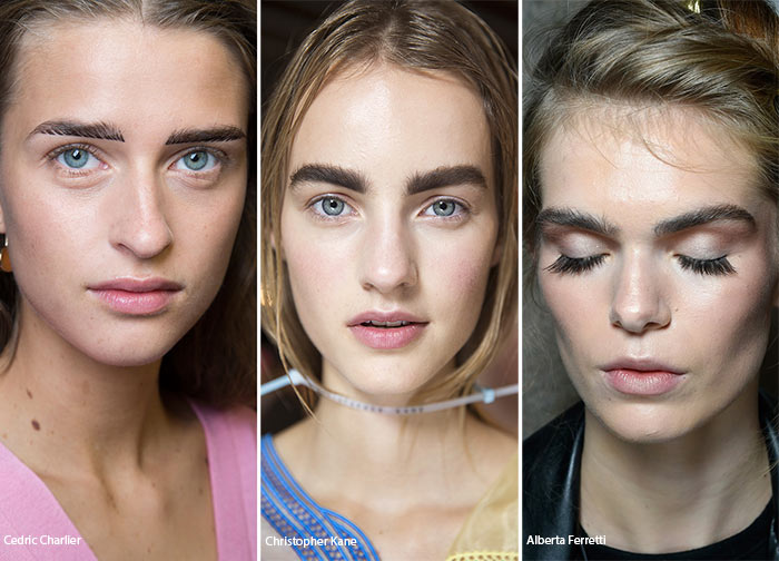 Spring/ Summer 2016 Makeup Trends: Strongly Contoured Thick Eyebrows