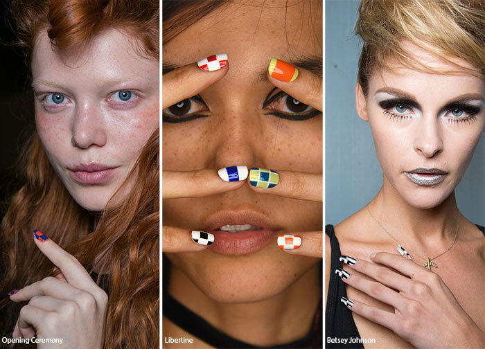 Spring/ Summer 2016 Nail Trends: Checkered Nail Art