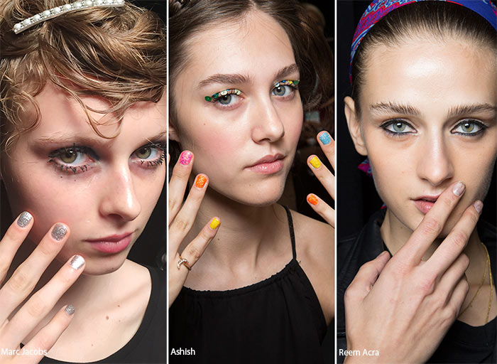 Spring/ Summer 2016 Nail Trends: Glittering Manicure