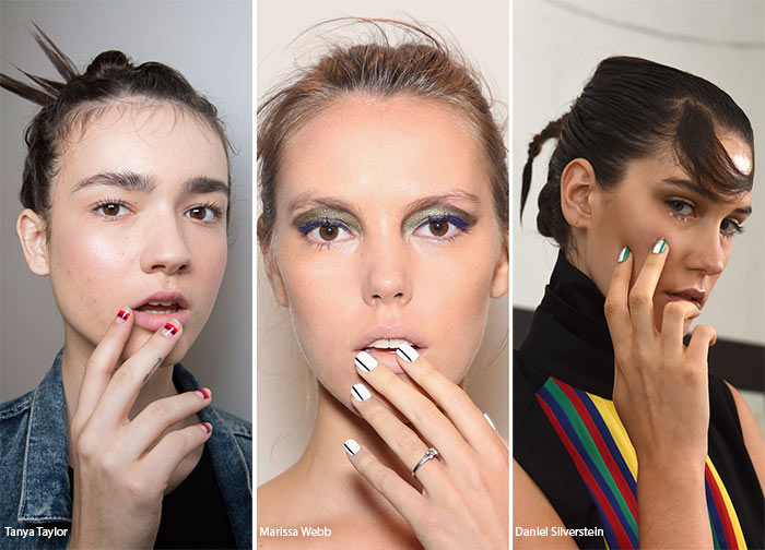 Spring Summer 2016 Nail Trends Striped Art