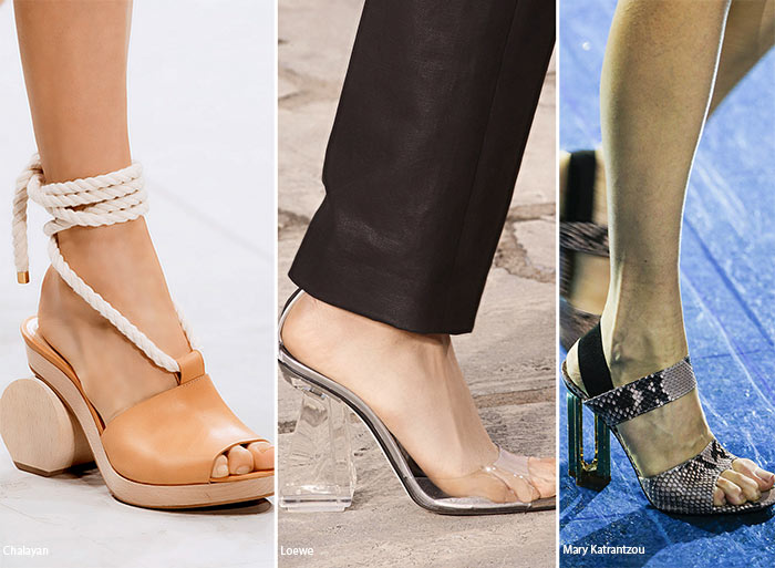 Spring/ Summer 2016 Shoe Trends: Shoes with Sculptural Heels