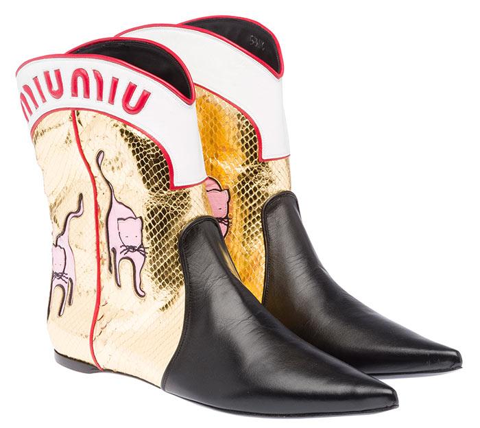 Miu Miu Cat Print Boots