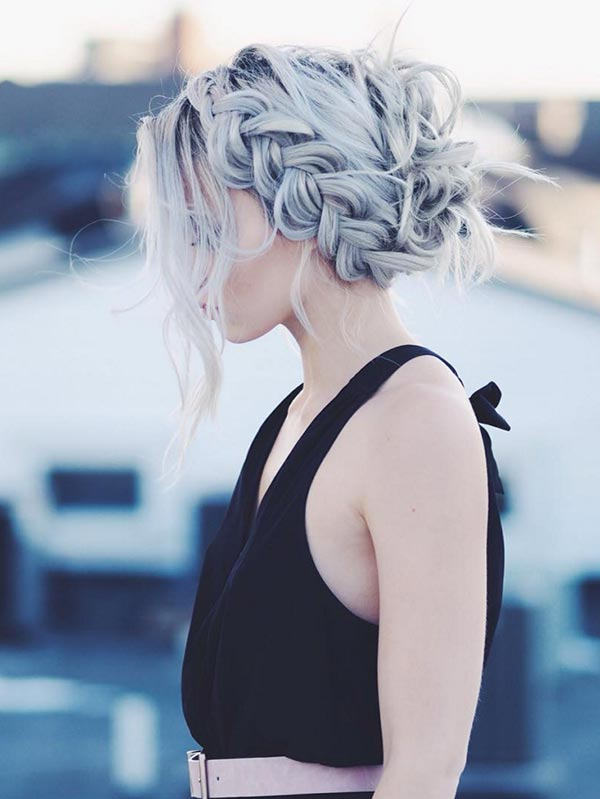 Trendiest Braided Hairstyles 2016: Loose Dutch Braid Updo